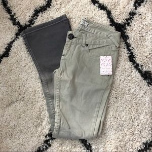 Free People Gray Ombre Bootcut Jeans